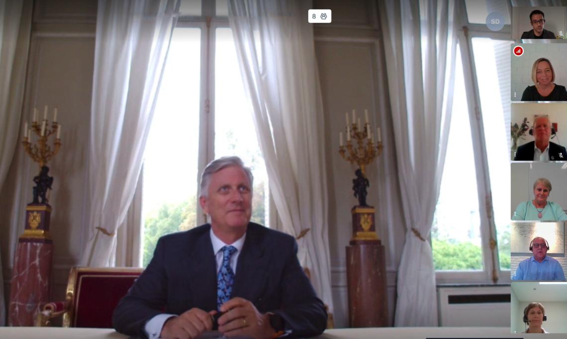 Videogesprek GTB met de Koning 30 september 2020